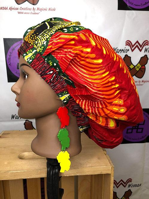 Wooden Afro ladies Earrings