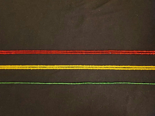 Solid Color Waistbeads from Ghana