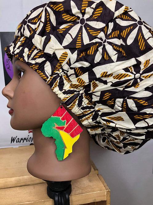 Wooden Africa fist earrings