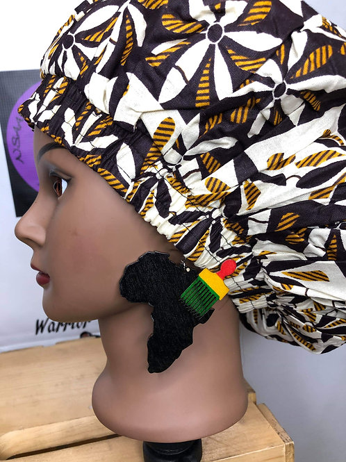 Wooden Africa with pick earrings
