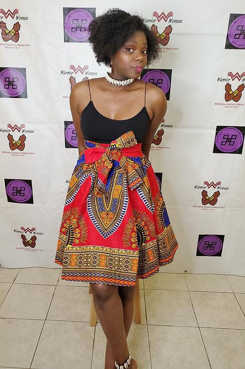 African Ankara mini Skirt