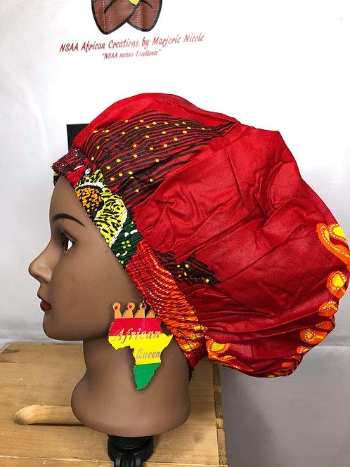 Wooden African Queen earrings