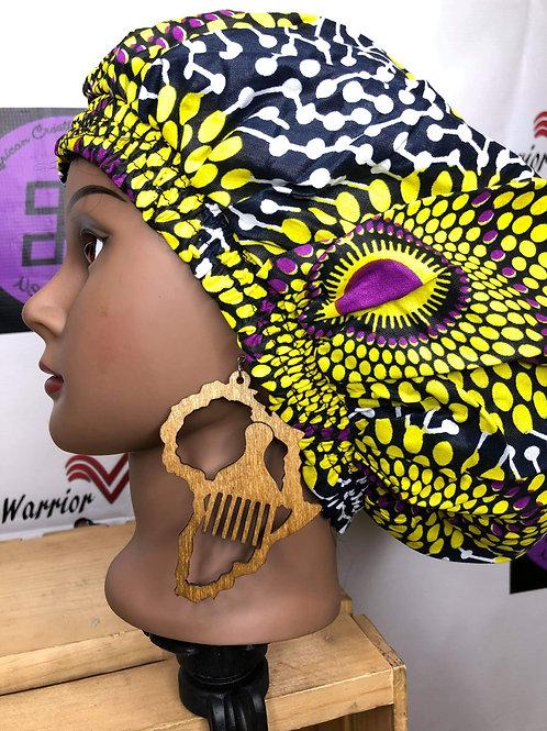 Wooden pick inside of Africa earrings