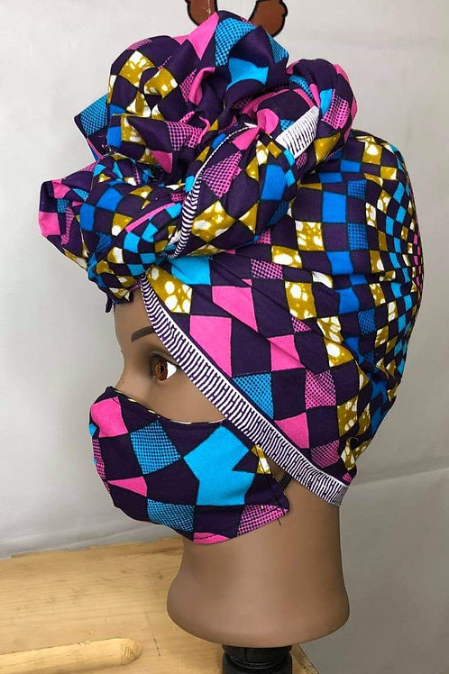 Mask with Matching Headwrap