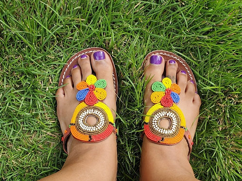 All Size 39 handmade Maasai beaded sandals