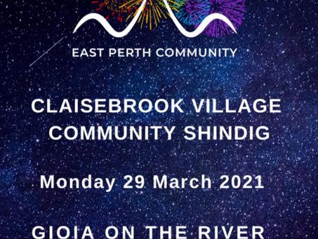 Shindig on Claisebrook Cove