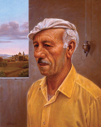 MAN WITH ITALIAN LANDSCAPE (1997)