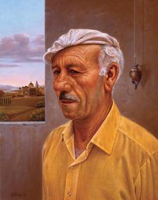 MAN WITH ITALIAN LANDSCAPE (1997)