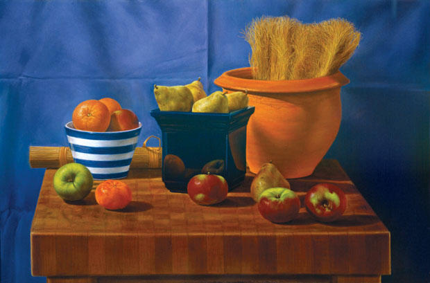 STILL LIFE WITH FRUIT AND WHEAT (1997)