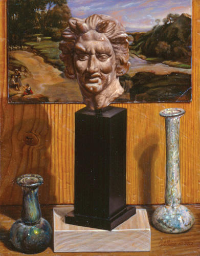 STILL LIFE WITH ANTIQUITIES IN ITALIAN LANDSCAPE (2003)
