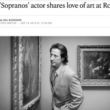 SOPRANOS ACTOR SHARES LOVE OF ART AT ROL