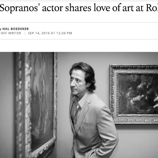 SOPRANOS ACTOR SHARES LOVE OF ART AT ROL