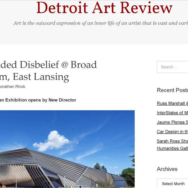 DETROIT ART REVIEW
