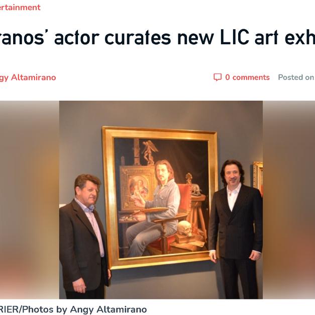 SOPRANOS' ACTOR CURATES LIC ART ...