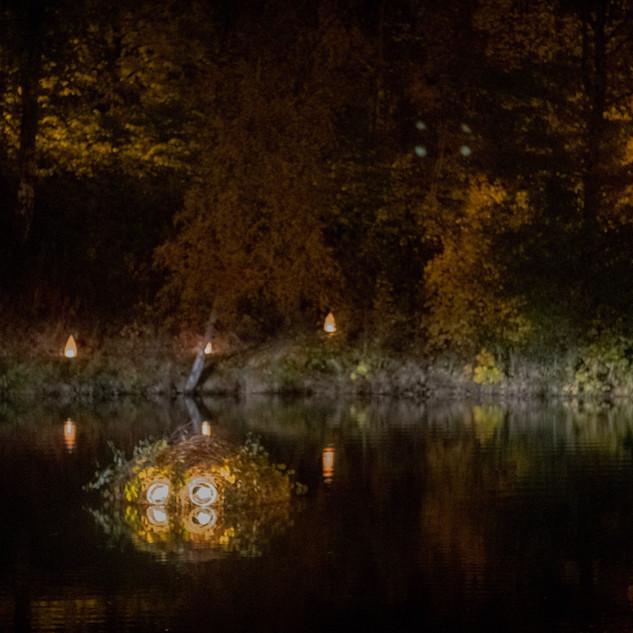 Nokken in situ on the lake