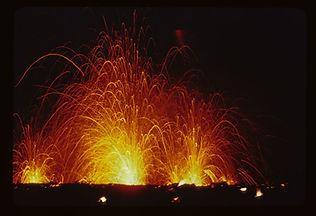 Kilauea volcano lava fountain