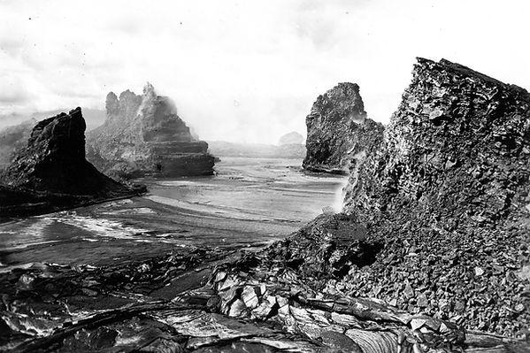 Kilauea volcano lava lake 1916