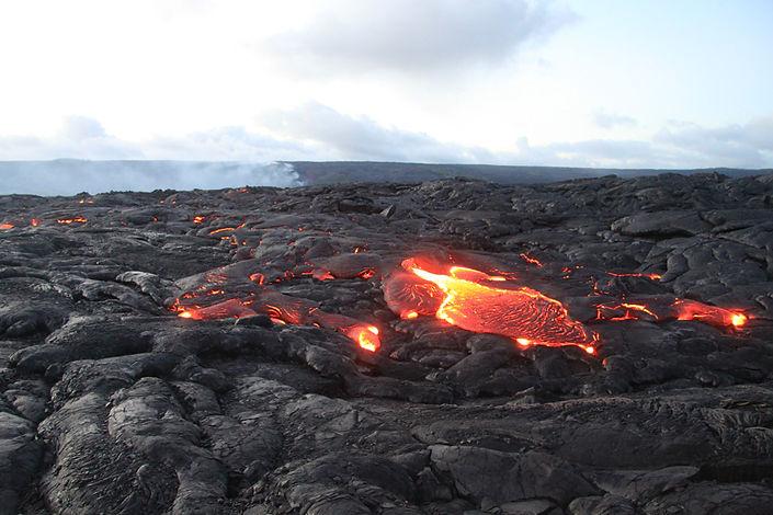 Kilauea volcano lava flow