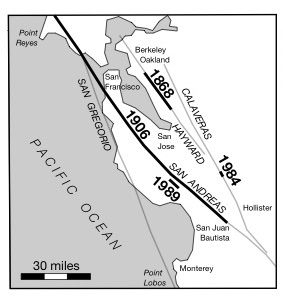 San Francisco Bay San Andreas fault earthquakes