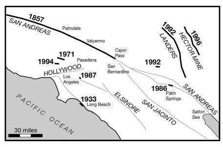 Los Angeles southern California San Andreas fault earthquakes