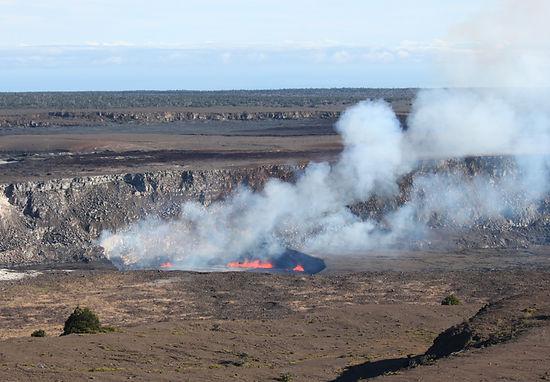 Daytime view Kilauea lava lake