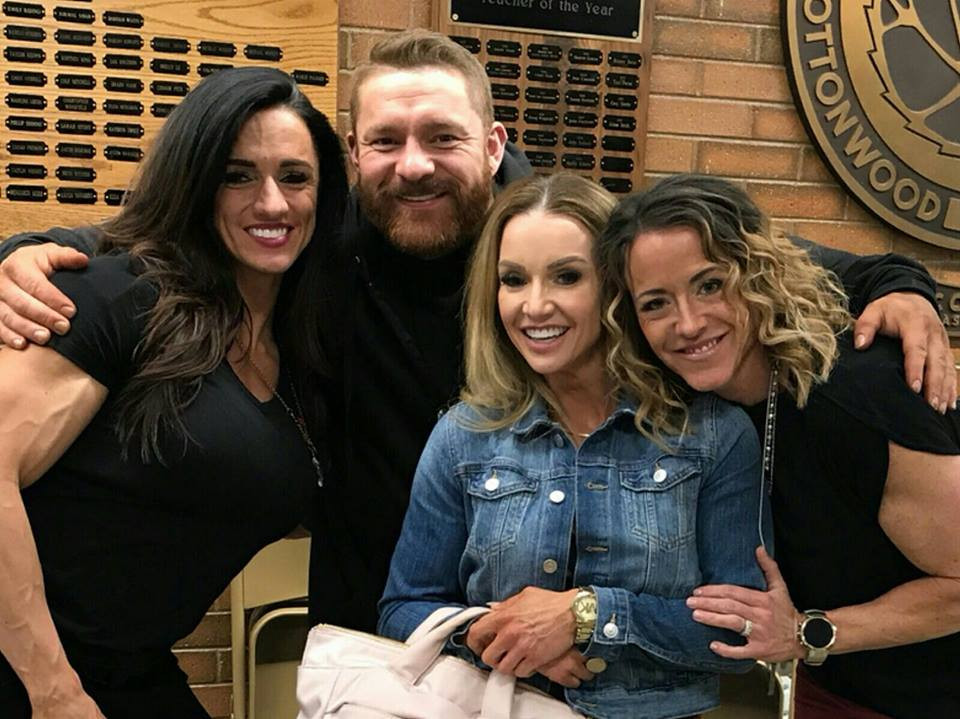 Heather, Flex, Robyn, and Me