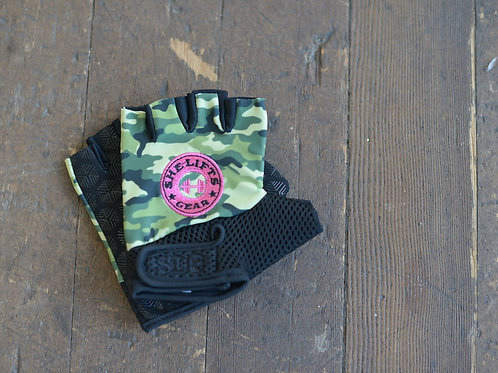 Army Green Camo with Hot Pink SG Logo