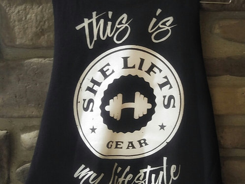THIS IS MY LIFESTYLE Racerback Cropped Tank
