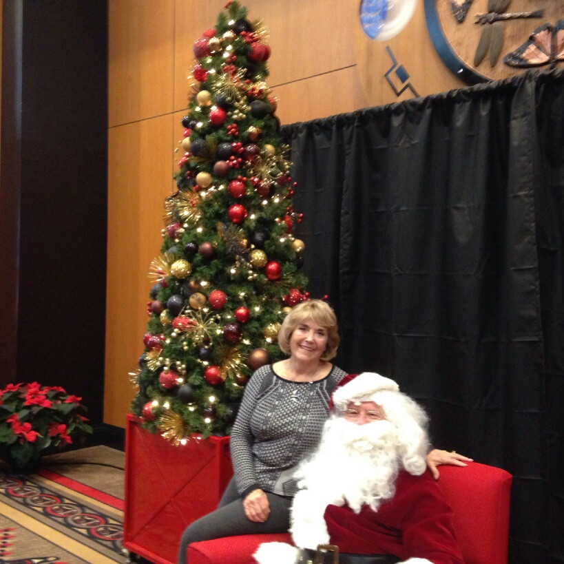 Mom on Santa's Lap - 2016