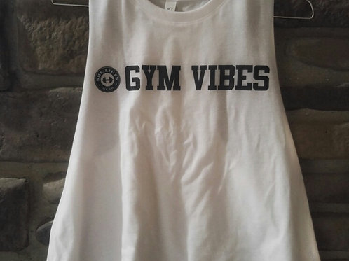 GYM VIBES Racerback Cropped Tank