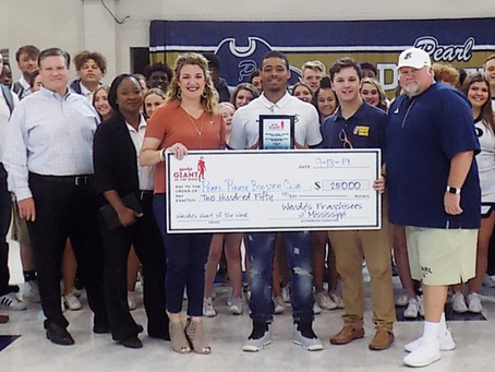Pearl football player recognized for outstanding performance