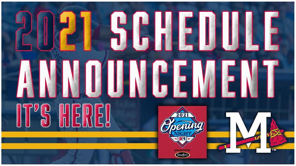 2021 Mississippi Braves Schedule Announcement