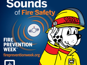 FIRE PREVENTION WEEK IS OCTOBER 3RD-9TH