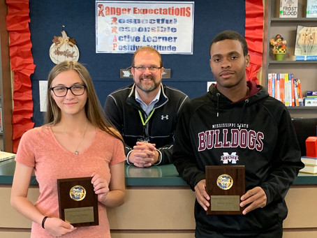 Rester and Jackson receive Richland's leadership award