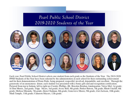 Pearl Public School District Selects 2019-2020 Students of the Year