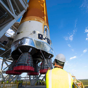 NASA Crews Prepare Core Stage For Transport To Kennedy Space Center