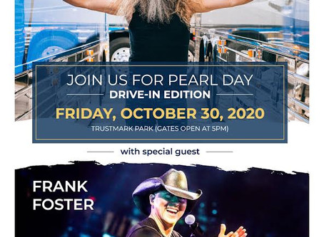 Tickets Available to Pearl Day Drive-In Concert Oct. 30.