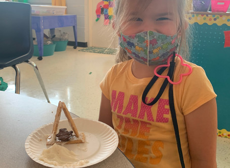 Pearl Early Childhood Education Center Students Make Bear Caves