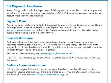 Need Help Paying Your Natural Gas Bill?