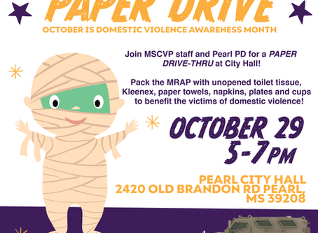 Paper Drive-Through Benefits Center For Violence Prevention