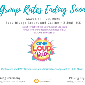 CHILDREN'S ADVOCACY CENTERS OF MISSISSIPPI TO HOST ITS 7TH ANNUAL ONE LOUD VOICE CONFERENCE
