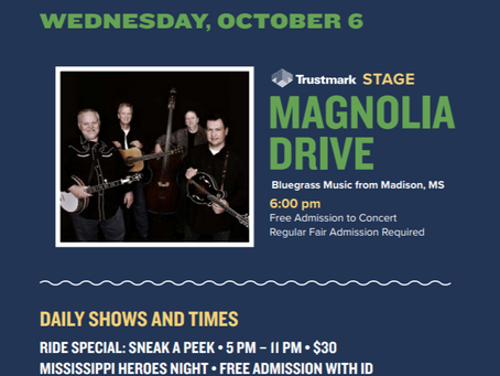 Magnolia Drive to Perform Opening Night at MS State Fair