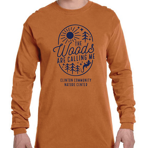 """""""The Woods Are Calling"""" Long Sleeve T-Shirt (Yam)"""