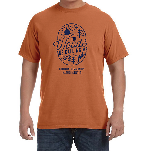 """The Woods Are Calling"" Short Sleeve T-Shirt (Yam)"