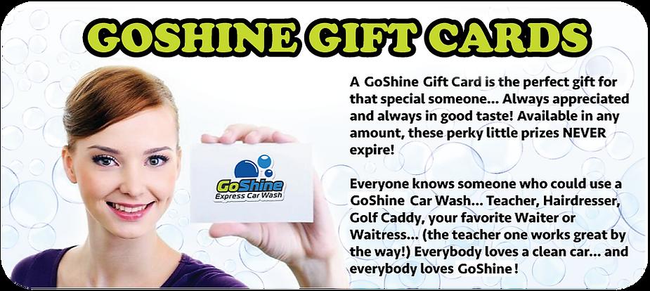 GoSine Express Car Wash Gift Cards