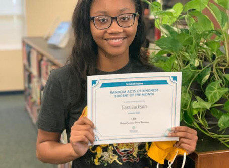 Richland High School's August Character Trait Student of the Month Awarded