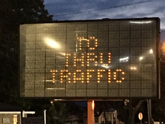 Pineville Rd No Thru Traffic