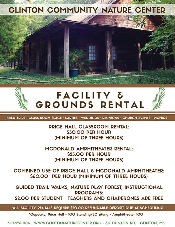 Clinton Nature Center Facilities Rental