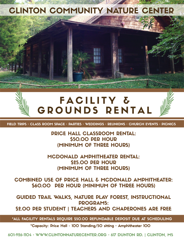 Clinton Nature Center Facilities Rental