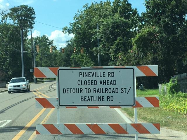Pineville Rd Detour